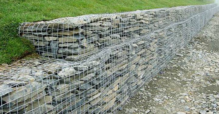 Gabion Retaining Wall Pictures to pin on Pinterest
