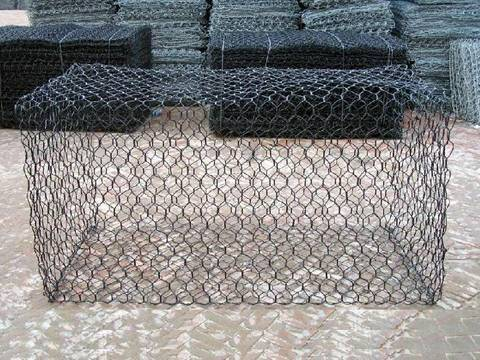 Black PVC coated gabion basket