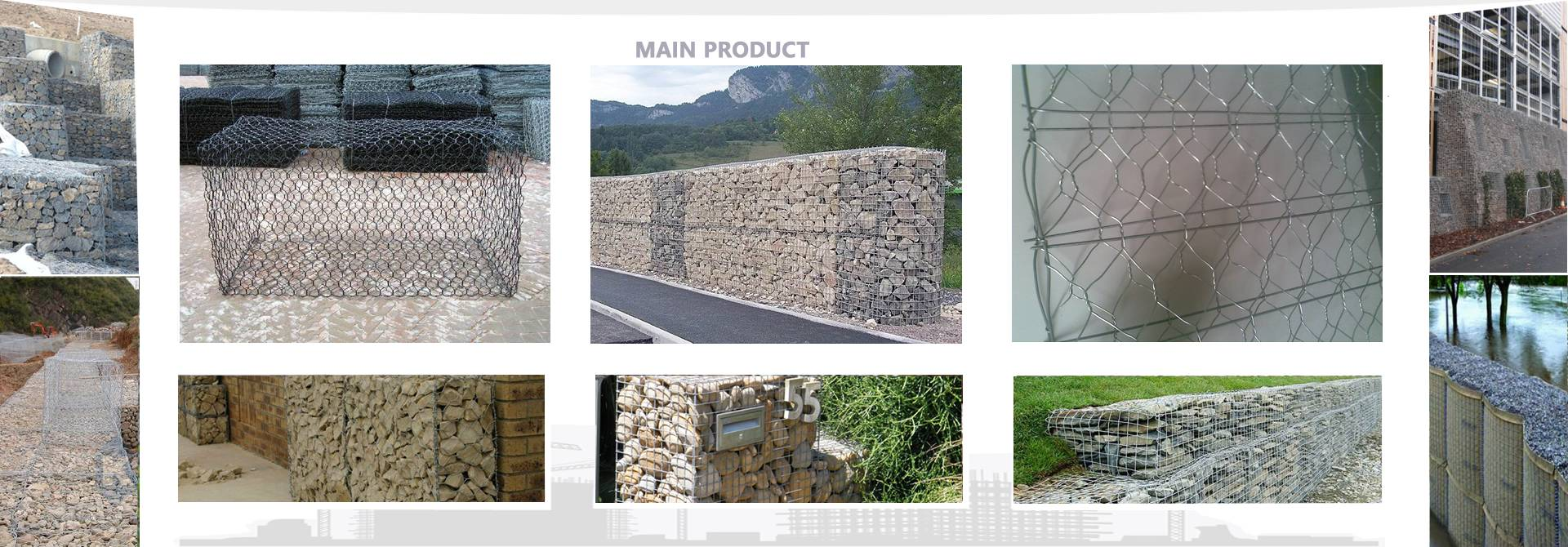 A combination of woven, welded gabions and retaining wall projects.